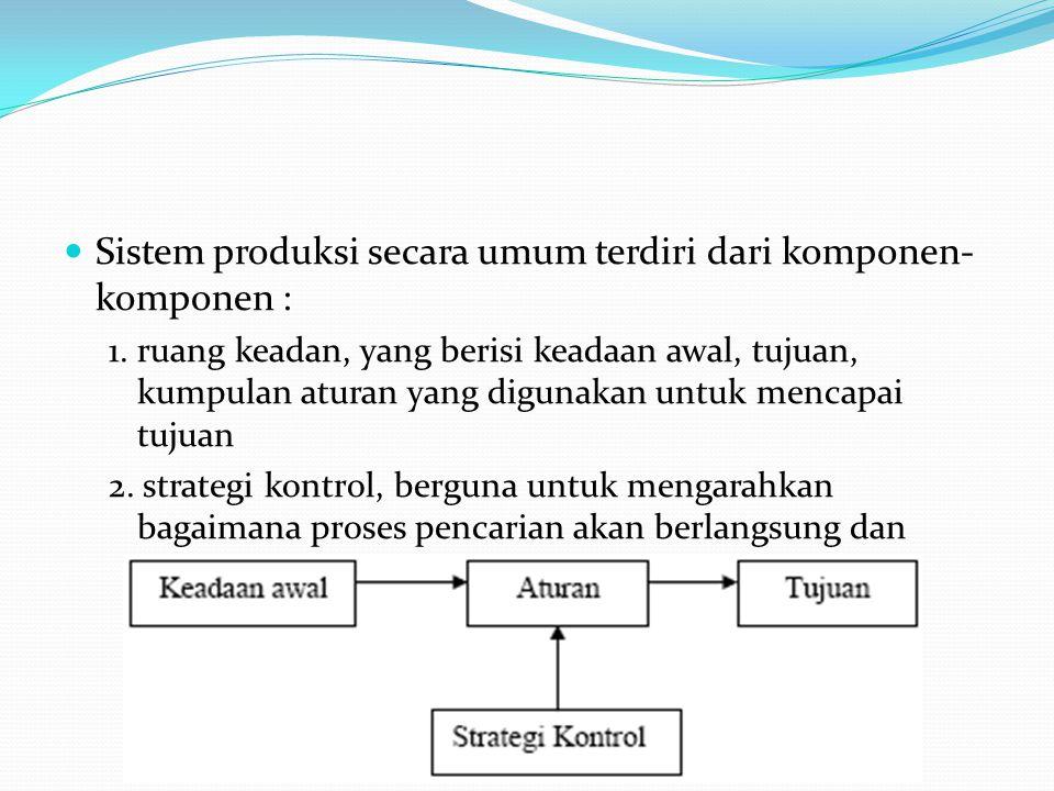 Sistem produksi secara umum terdiri dari komponen-komponen :