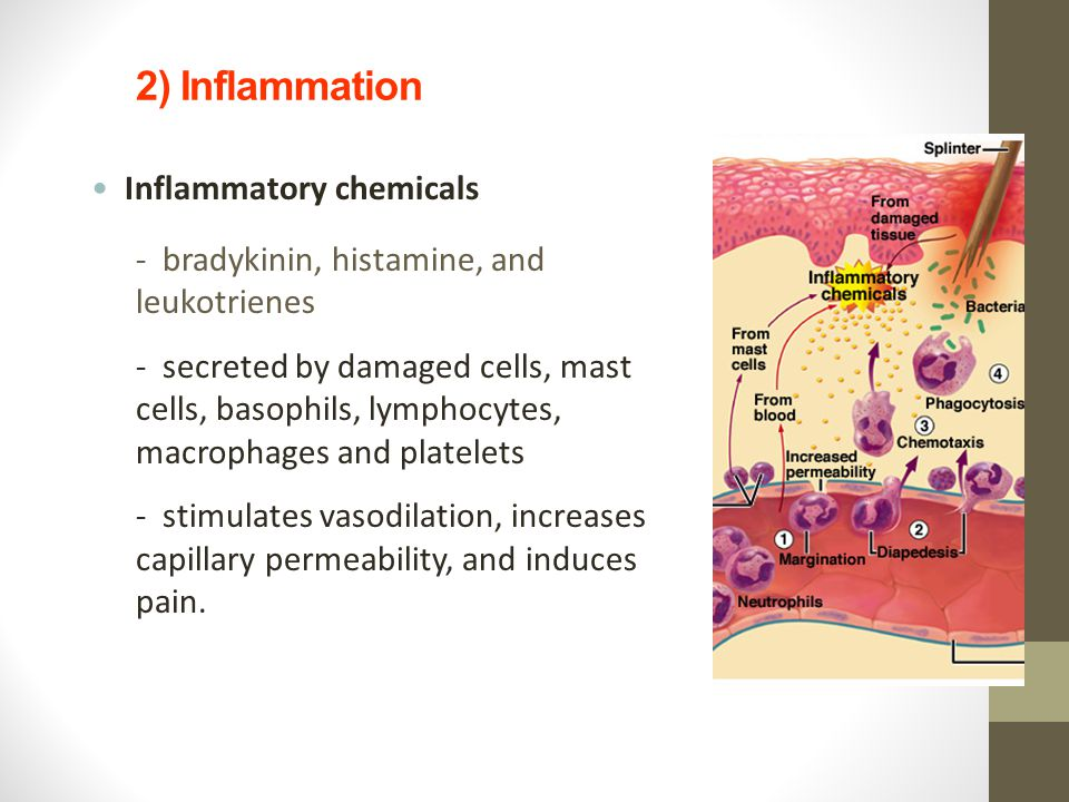 2) Inflammation Inflammatory chemicals