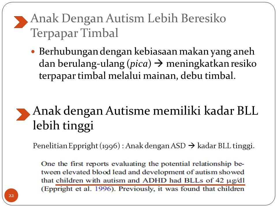 Anak Dengan Autism Lebih Beresiko Terpapar Timbal