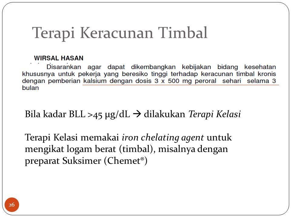 Terapi Keracunan Timbal