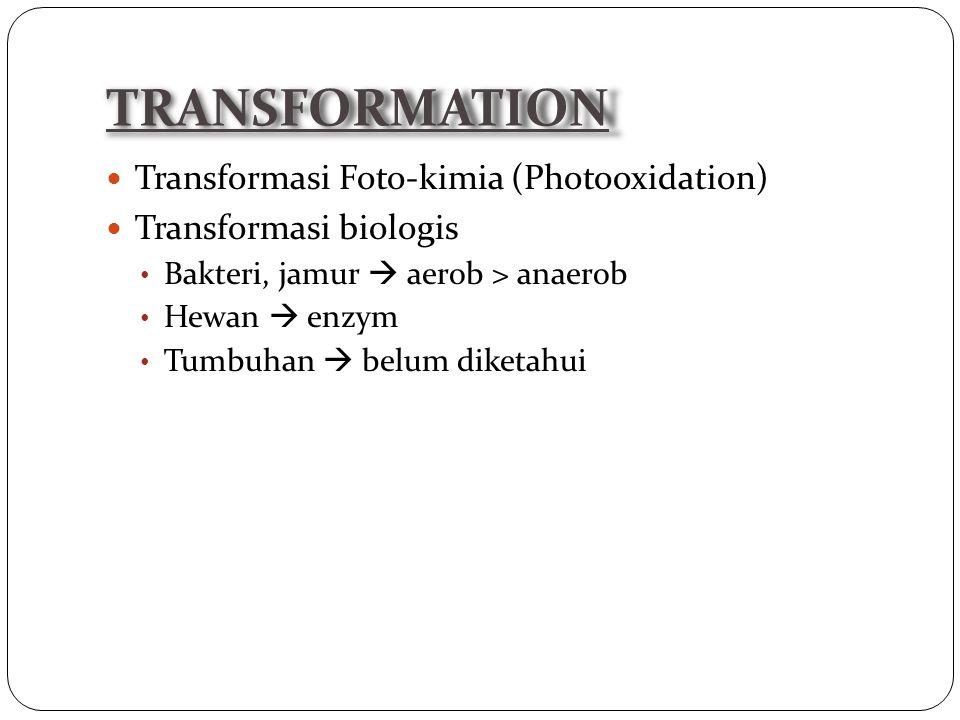 TRANSFORMATION Transformasi Foto-kimia (Photooxidation)