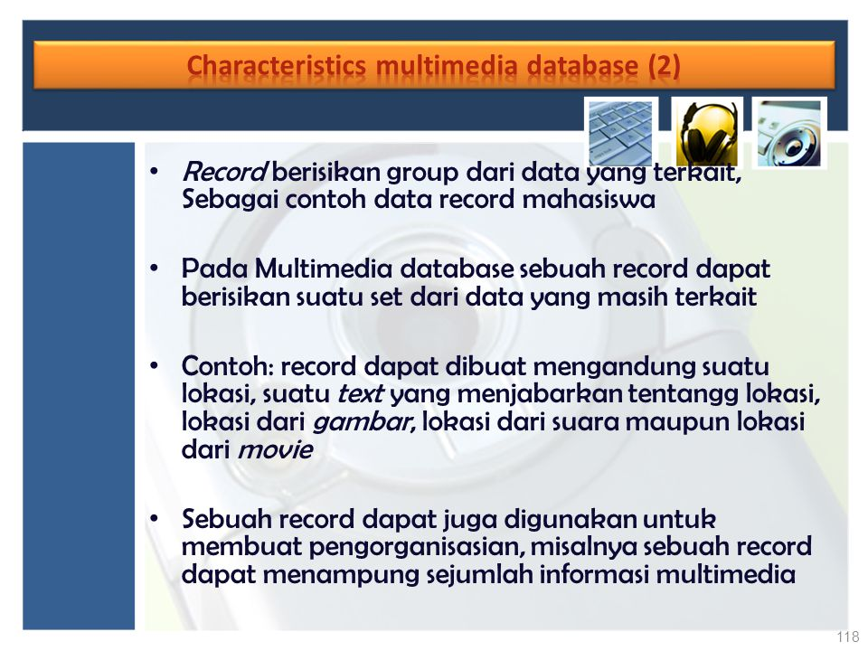Characteristics multimedia database (2)
