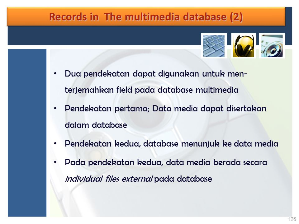 Records in The multimedia database (2)