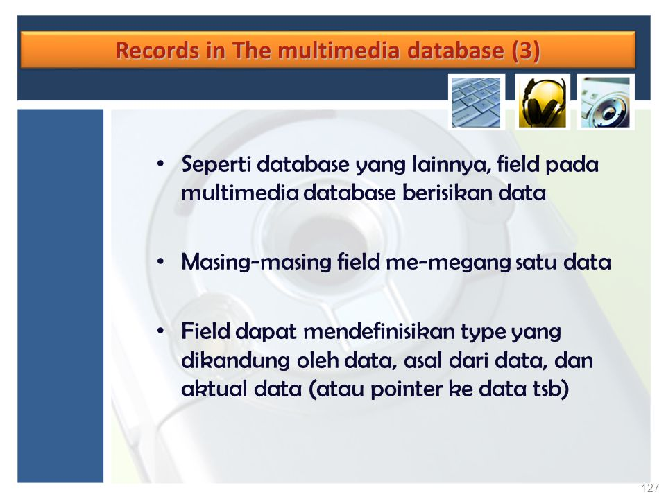 Records in The multimedia database (3)