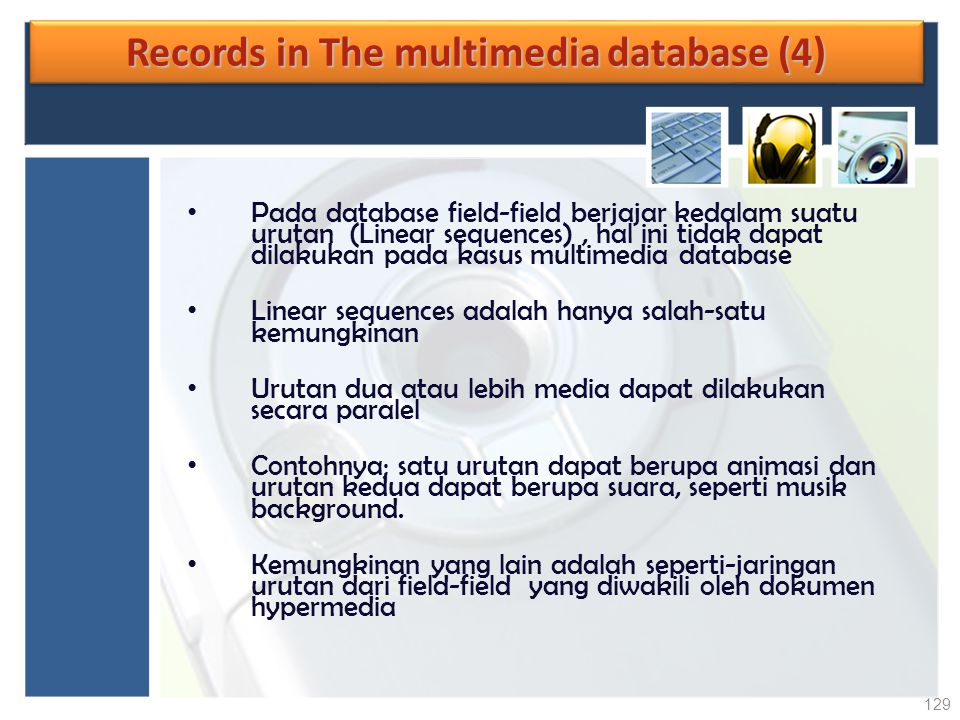 Records in The multimedia database (4)