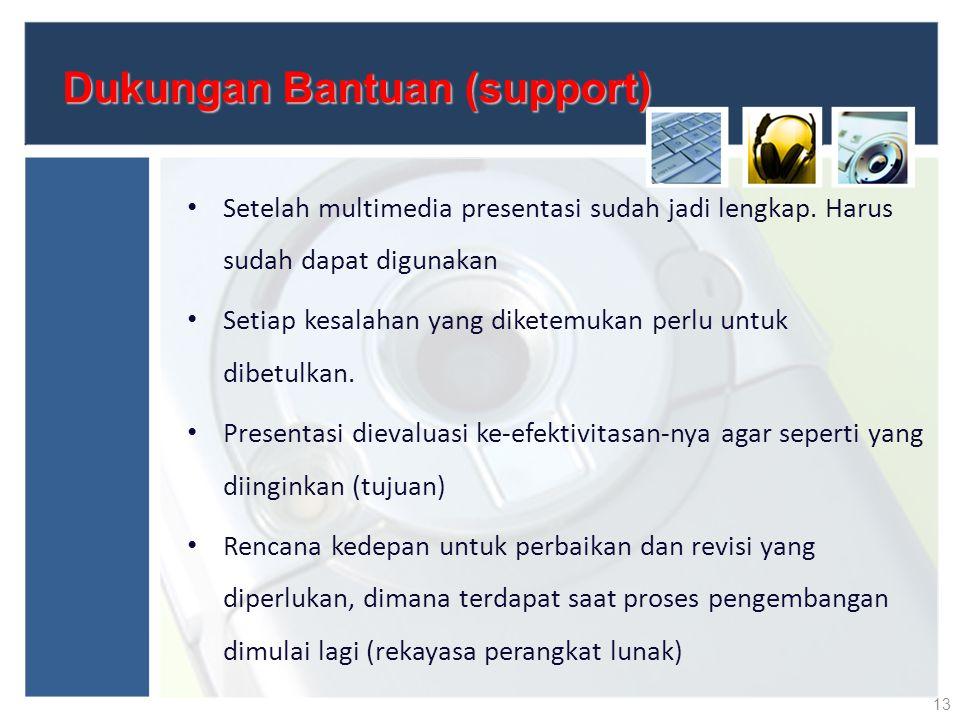 Dukungan Bantuan (support)