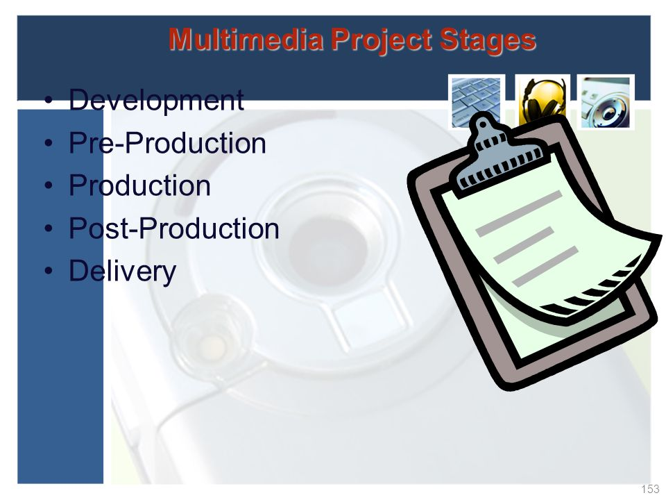 Multimedia Project Stages