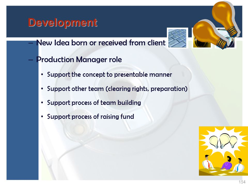 Development New Idea born or received from client