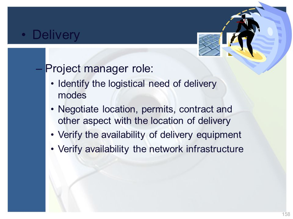 Delivery Project manager role: