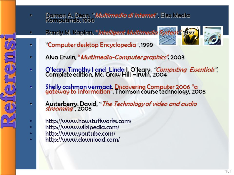 Damon A. Dean, Multimedia di internet , Elex Media Komputindo, 1996