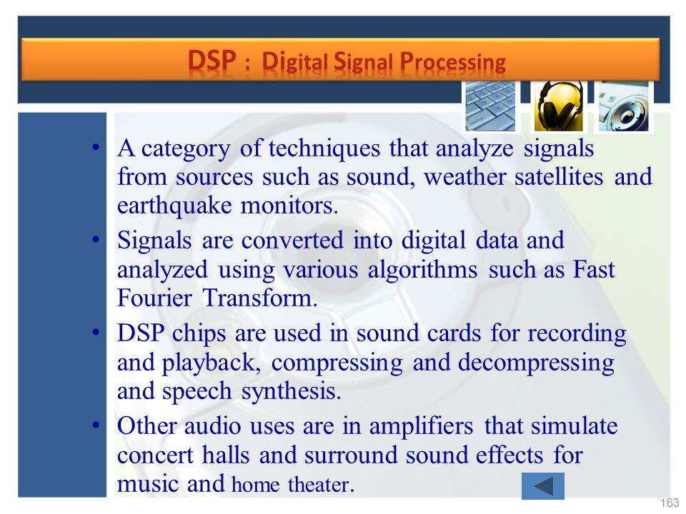 DSP : Digital Signal Processing