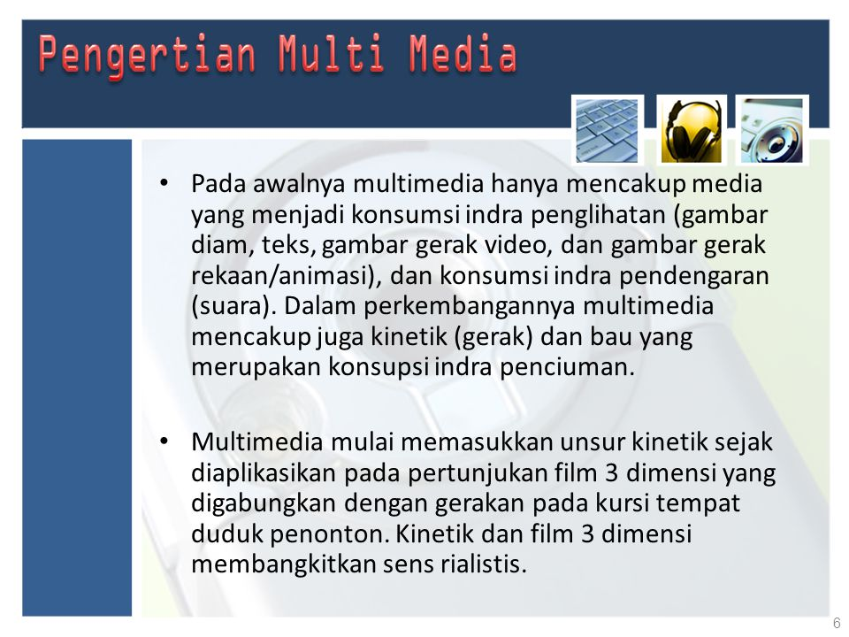 Pengertian Multi Media