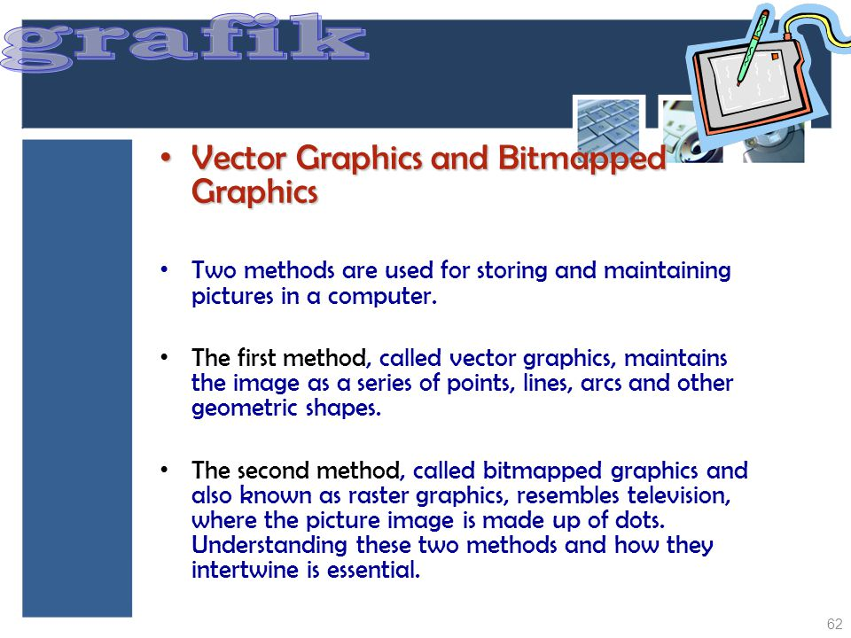 grafik Vector Graphics and Bitmapped Graphics