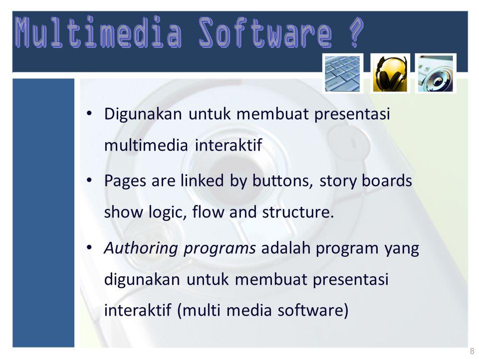 Multimedia Software Digunakan untuk membuat presentasi multimedia interaktif.