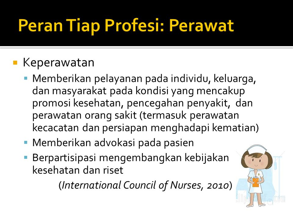 Peran Tiap Profesi: Perawat