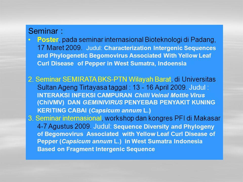 Seminar :
