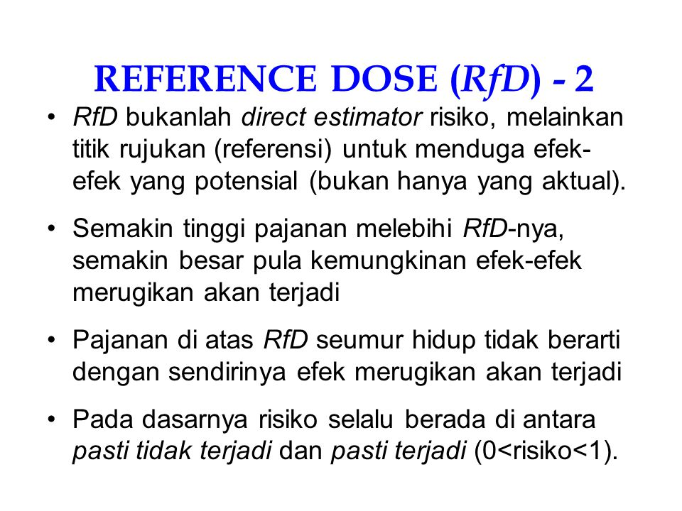 REFERENCE DOSE (RfD) - 2