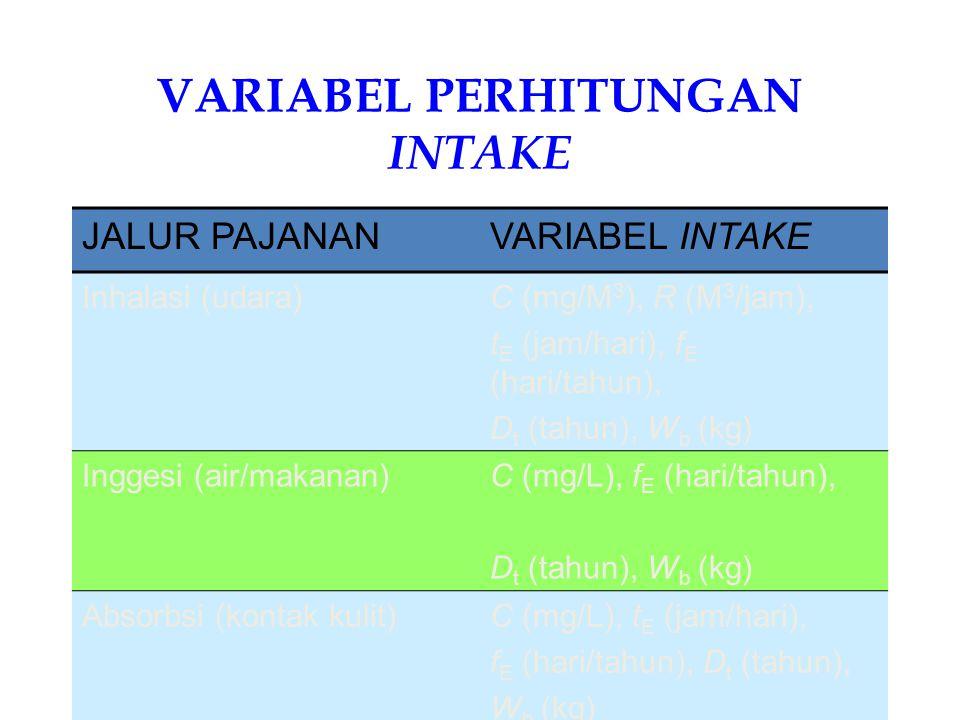 VARIABEL PERHITUNGAN INTAKE
