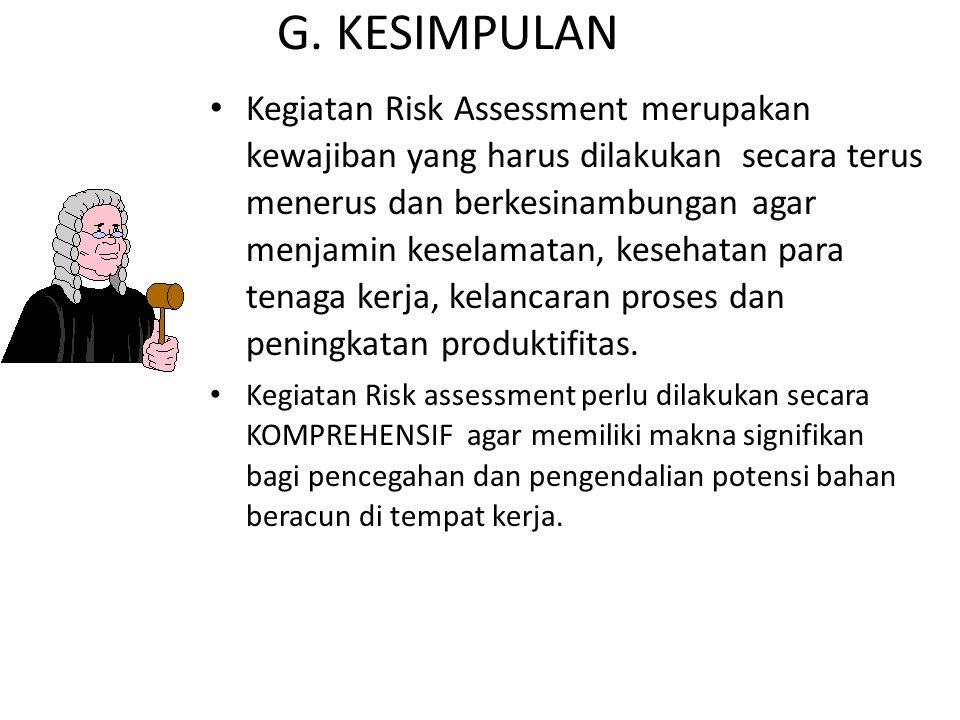 G. KESIMPULAN
