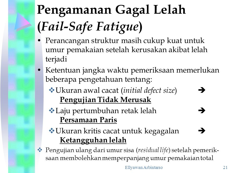 Pengamanan Gagal Lelah (Fail-Safe Fatigue)