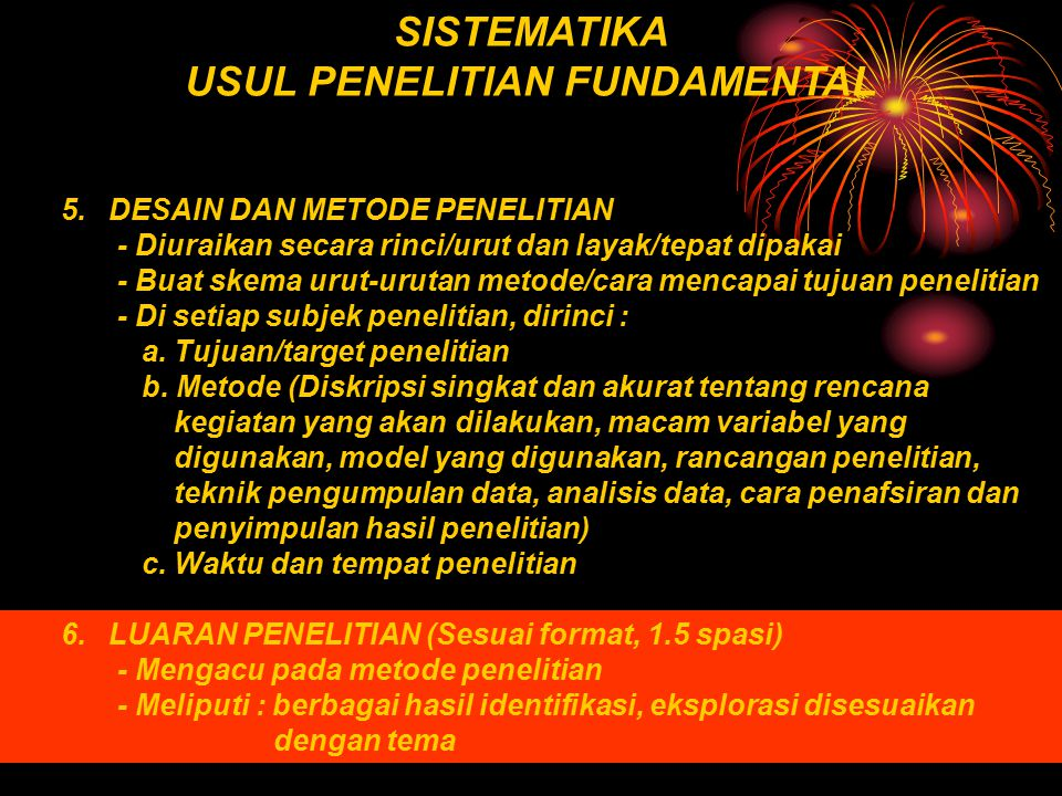 USUL PENELITIAN FUNDAMENTAL
