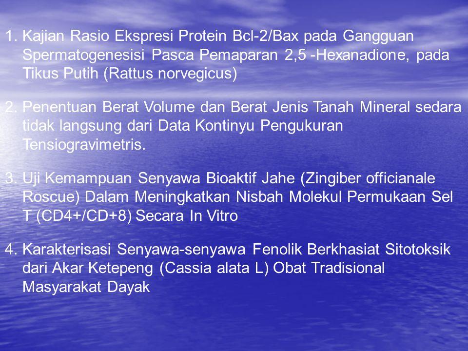 Kajian Rasio Ekspresi Protein Bcl-2/Bax pada Gangguan Spermatogenesisi Pasca Pemaparan 2,5 -Hexanadione, pada Tikus Putih (Rattus norvegicus)