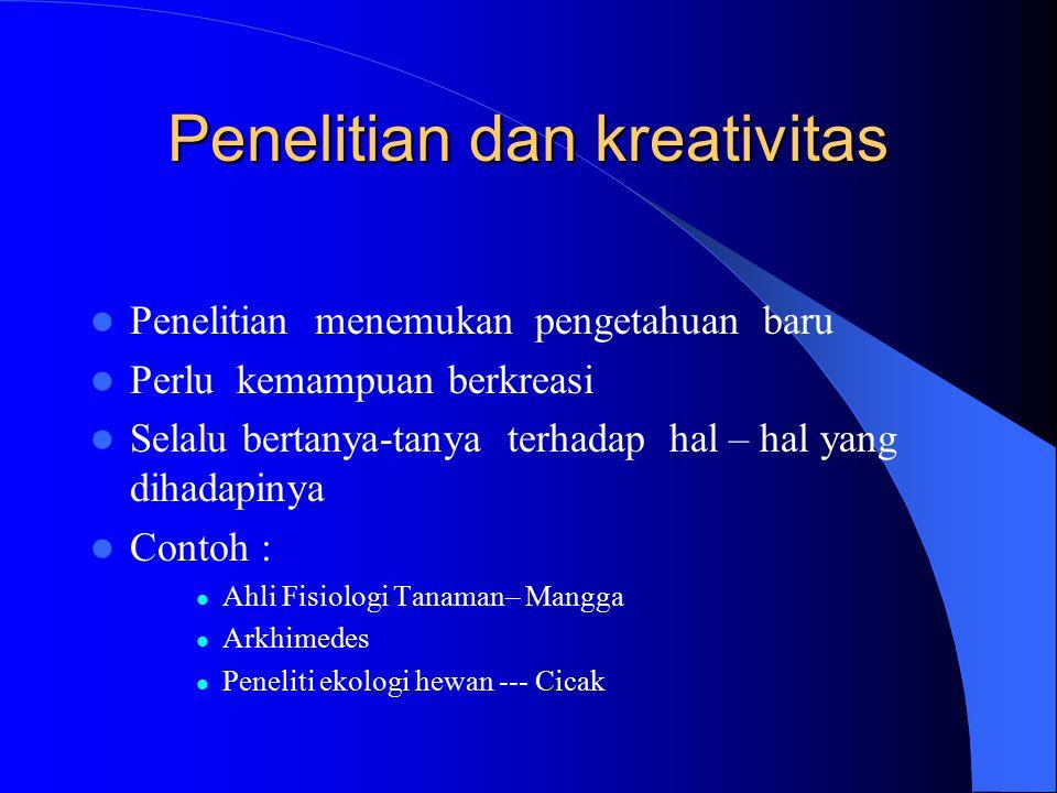 Penelitian dan kreativitas
