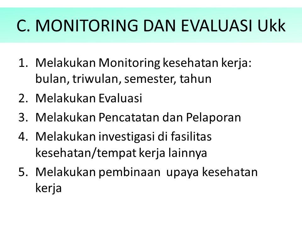 C. MONITORING DAN EVALUASI Ukk