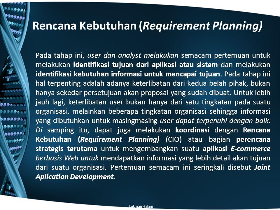Rencana Kebutuhan (Requirement Planning)