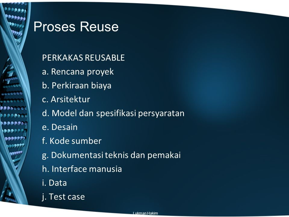 Proses Reuse
