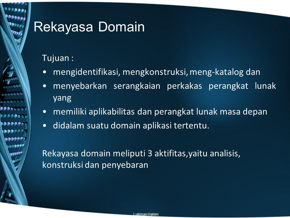 Rekayasa Domain Tujuan :