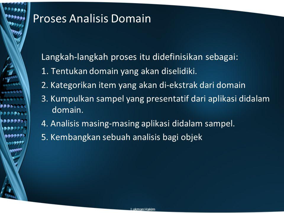 Proses Analisis Domain