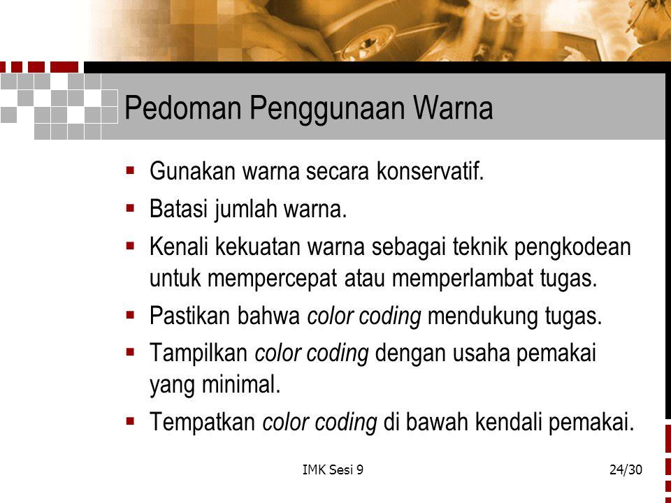 Pedoman Penggunaan Warna