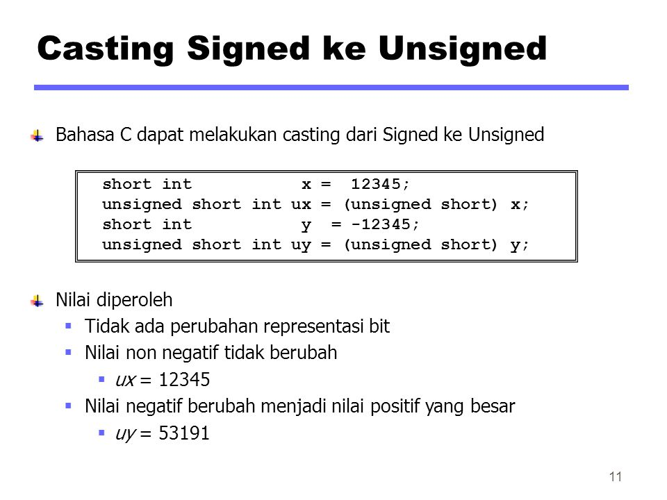 Casting Signed ke Unsigned