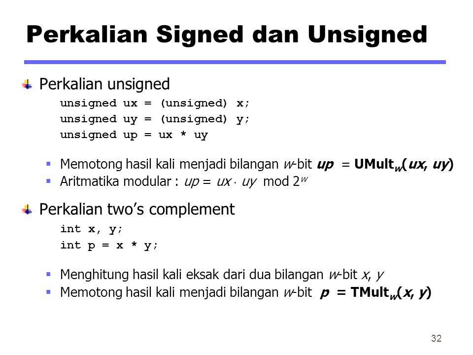Perkalian Signed dan Unsigned