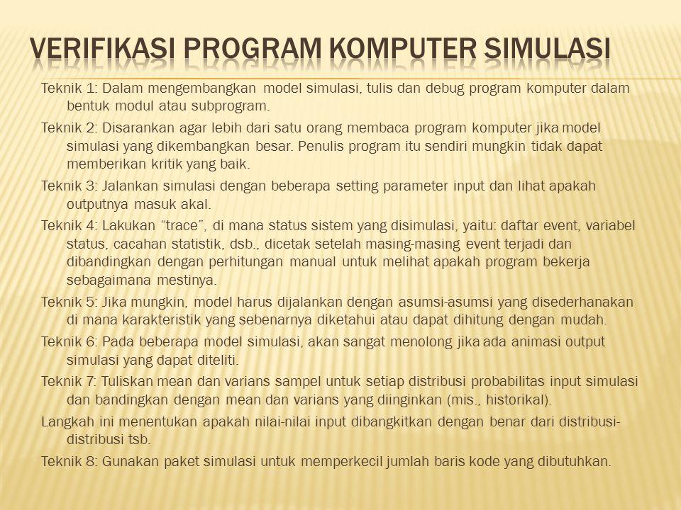 Verifikasi Program Komputer Simulasi