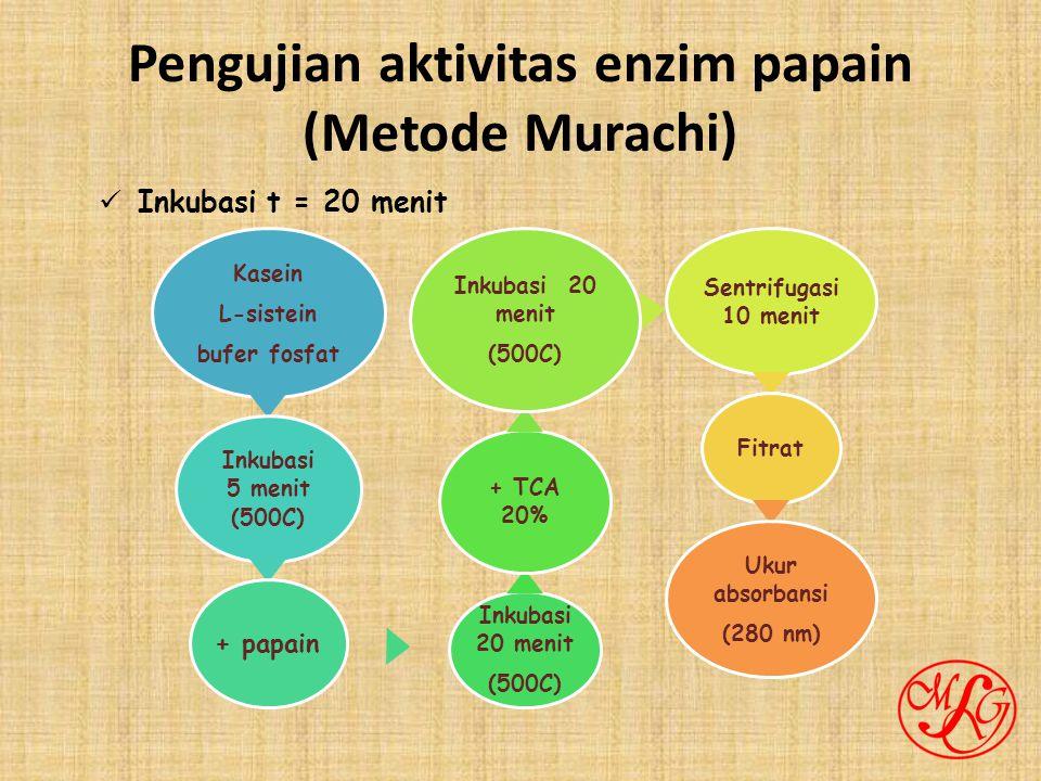 Pengujian aktivitas enzim papain (Metode Murachi)