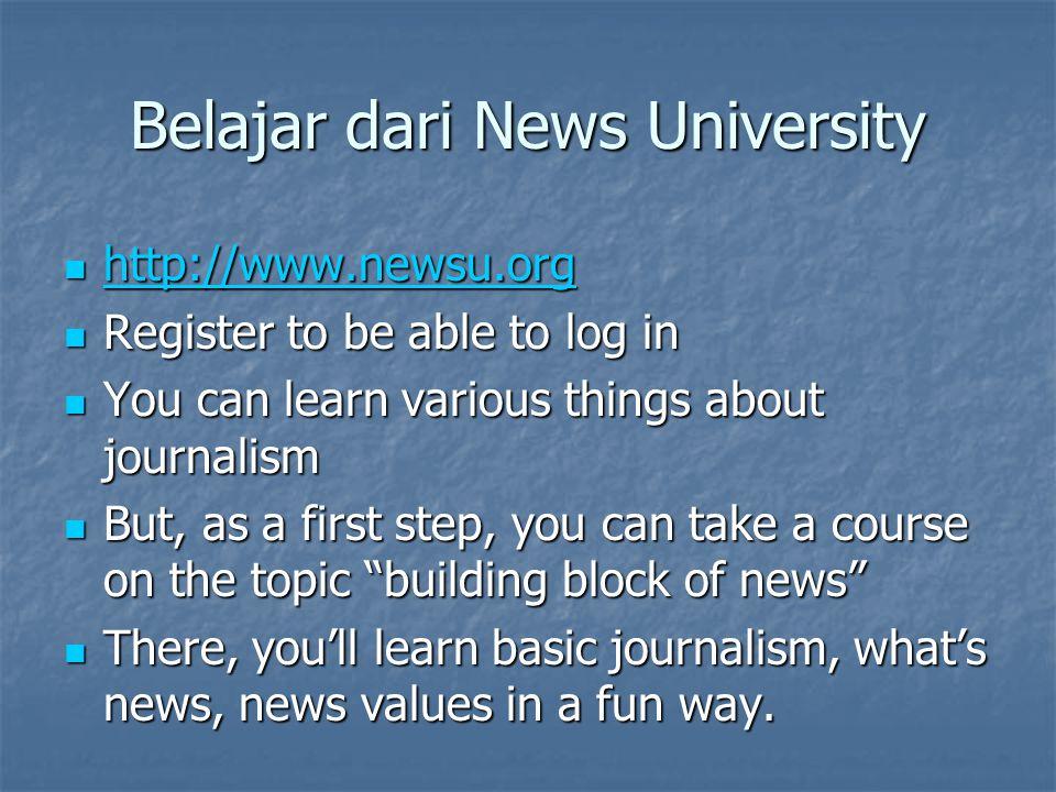 Belajar dari News University