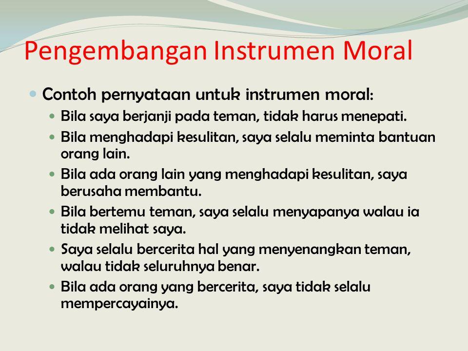 Pengembangan Instrumen Moral