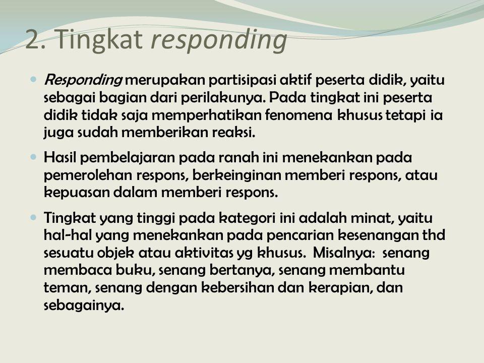 2. Tingkat responding