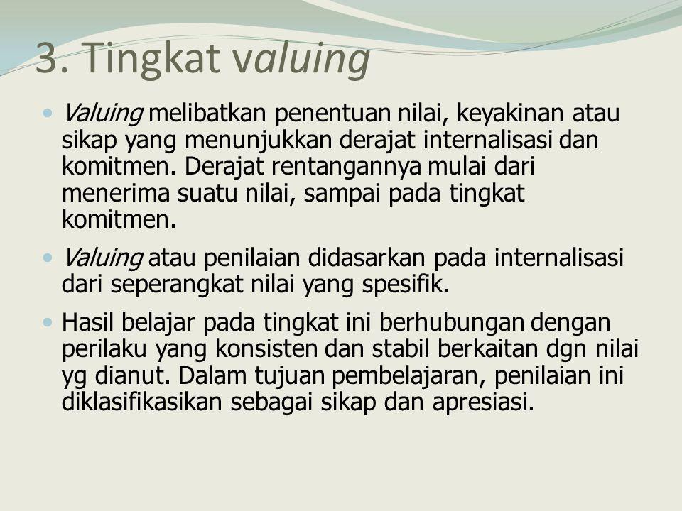 3. Tingkat valuing