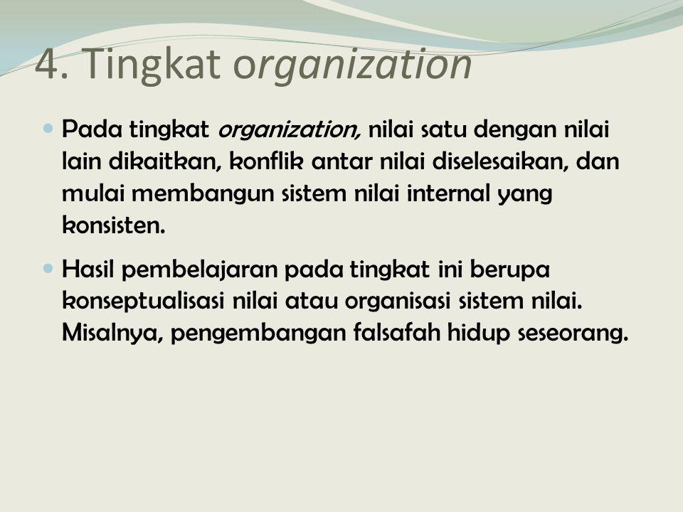 4. Tingkat organization
