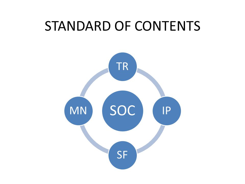 STANDARD OF CONTENTS SOC TR IP SF MN