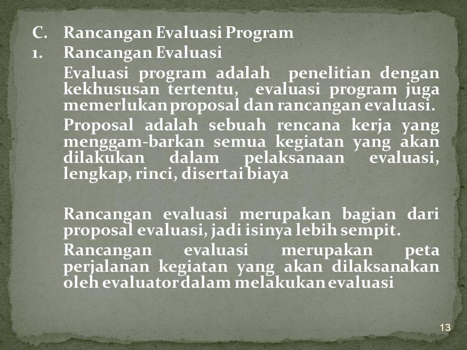 C. Rancangan Evaluasi Program 1