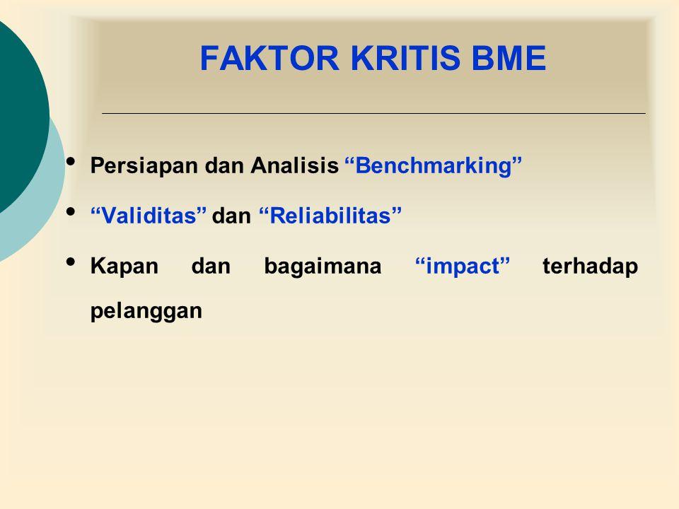 FAKTOR KRITIS BME Persiapan dan Analisis Benchmarking