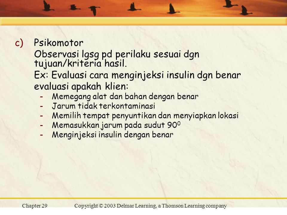 Copyright © 2003 Delmar Learning, a Thomson Learning company