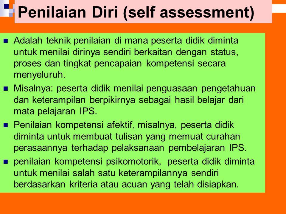 Penilaian Diri (self assessment)