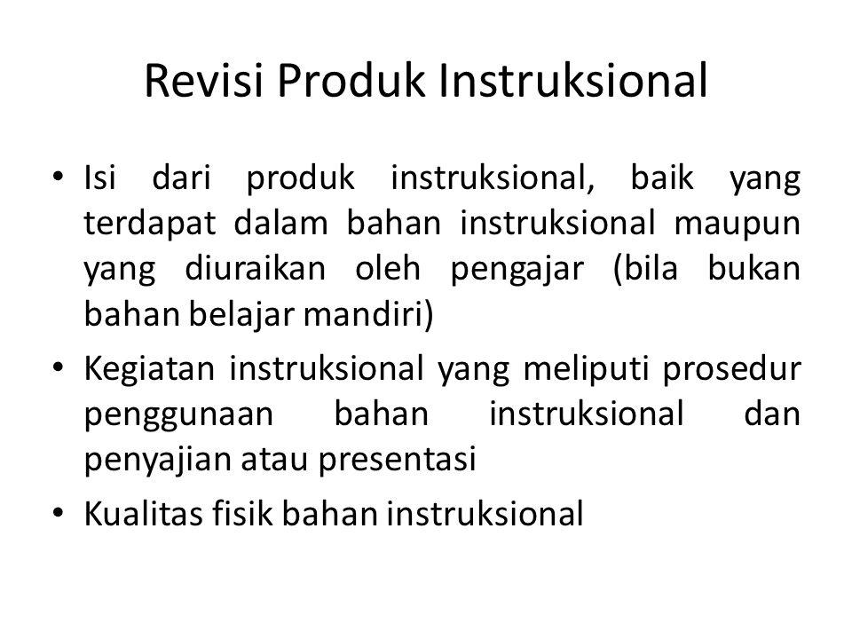 Revisi Produk Instruksional