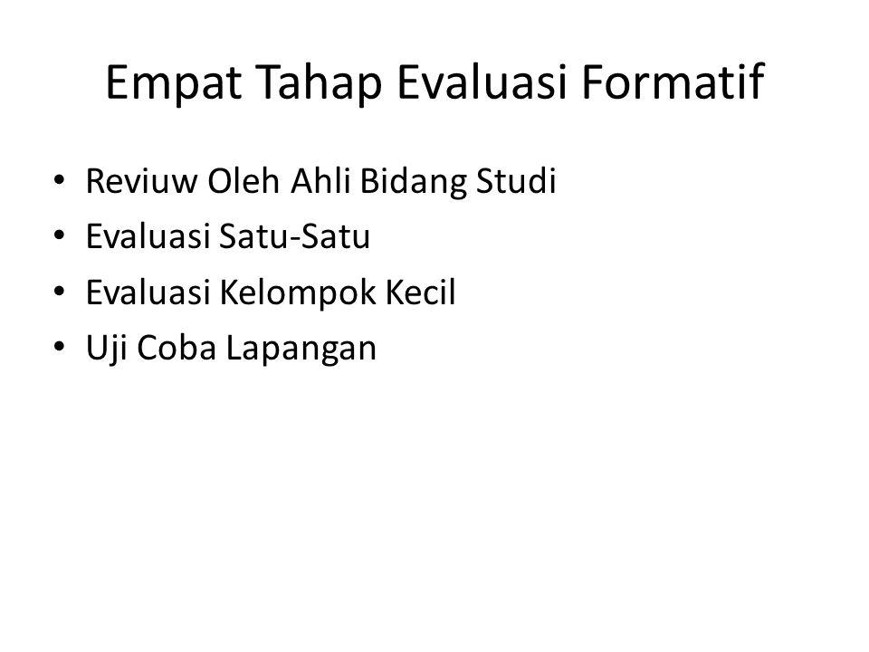 Empat Tahap Evaluasi Formatif