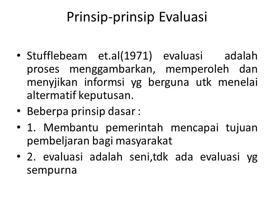 Prinsip-prinsip Evaluasi